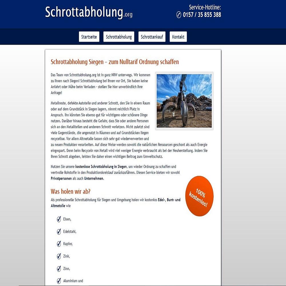 Schrottabholung Siegen