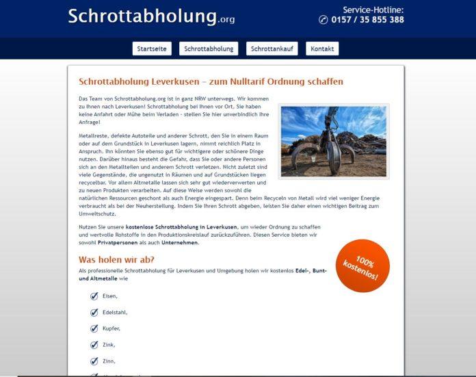 Schrottabholung in Leverkusen