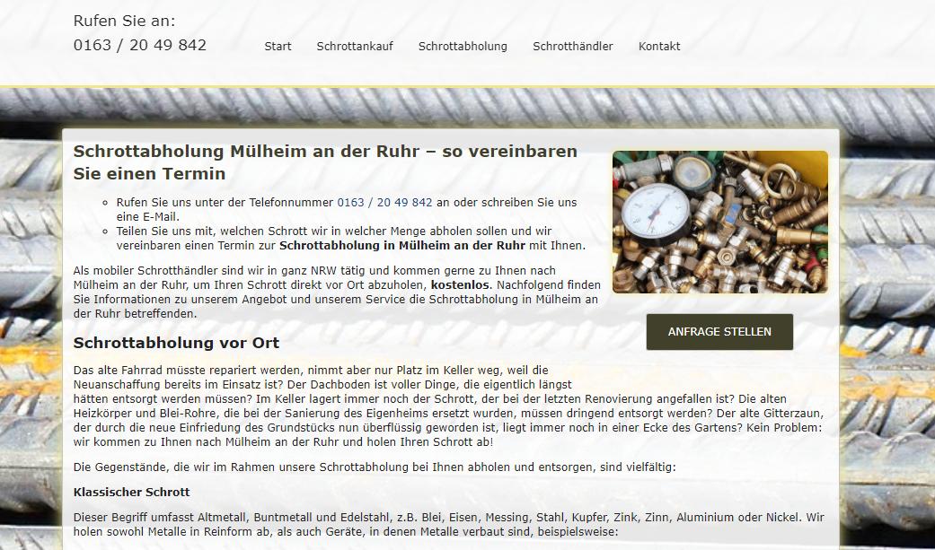 Schrottabholung Mülheim An Der Ruhr Macht Das Abholen Von Schrott Einfach