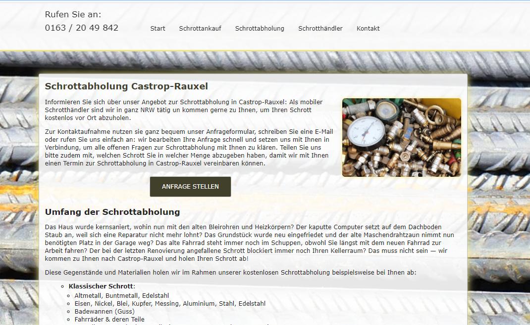 Schrottabholung Castrop-Rauxel – weil der Schutz der Ressourcen das A und O ist: Schrott-Recycling