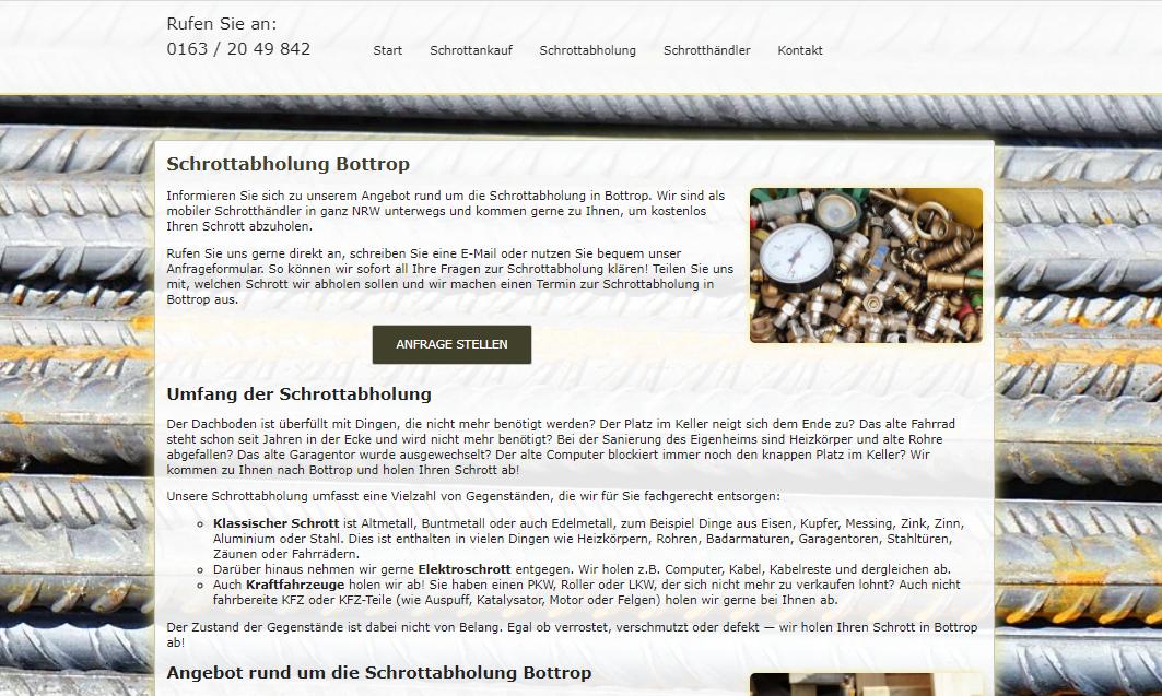 Tradition Und Zukunft Der Schrottabholung Bottrop Und NRW
