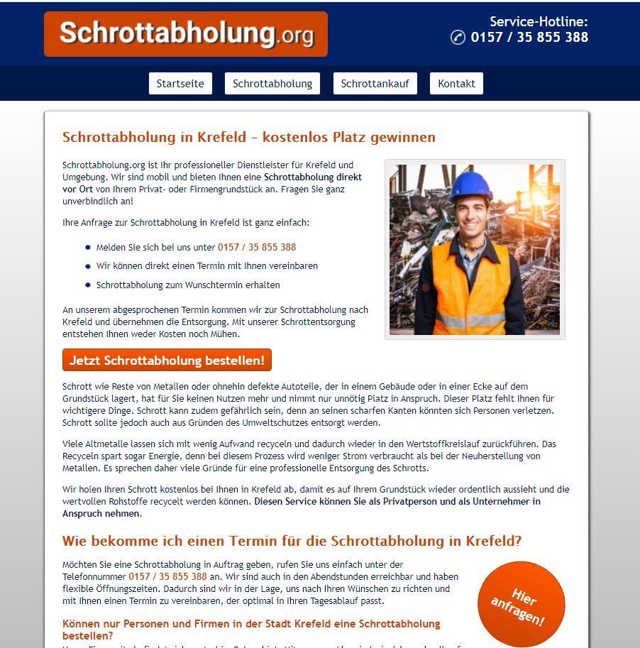 Schrottabholung Krefeld – Ihr Partner, wenn es um Schrott geht