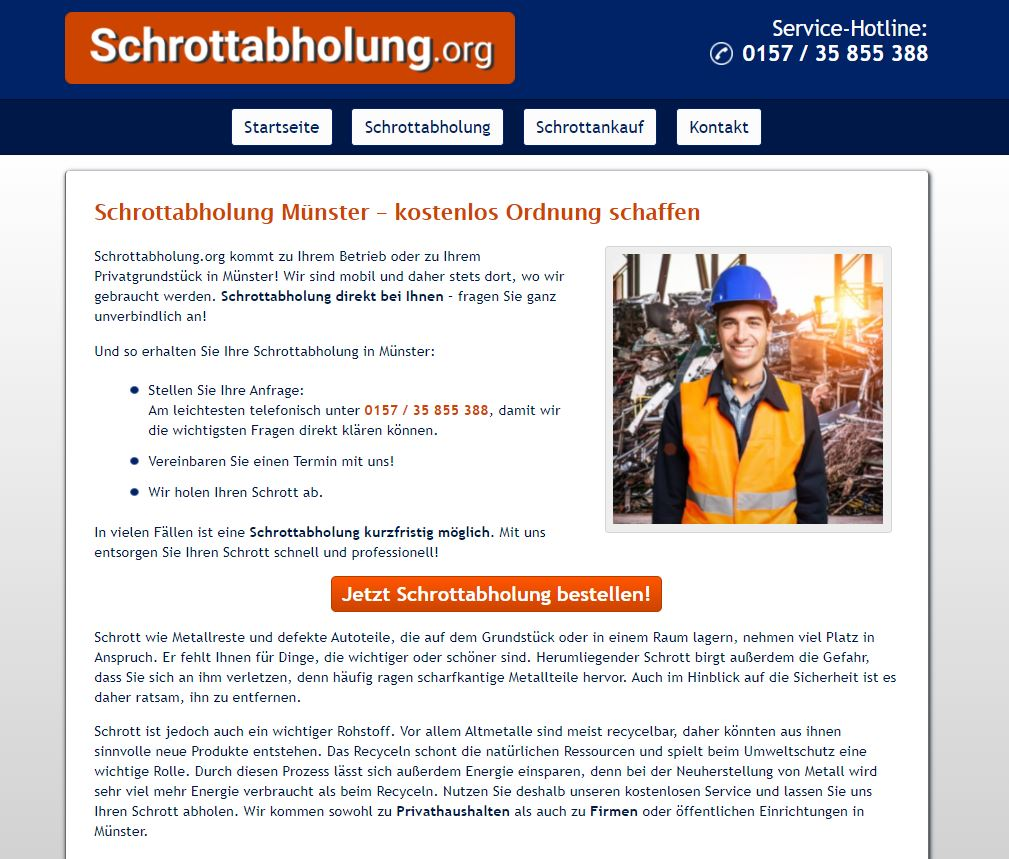 Schrottabholung Münster