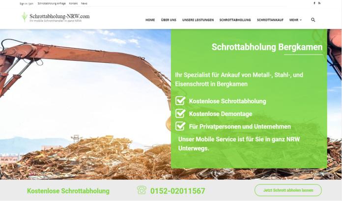 Wir bieten Kostenlose Schrottabholung für private und gewerbliche Kunden in Bergkamen und Umgebung