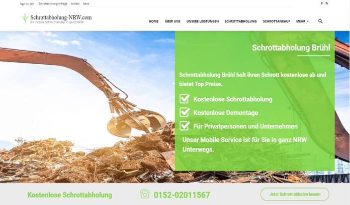 Schrott abholen lassen in Brühl - kostenlose Schrottabholung in ganz NRW