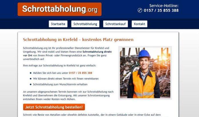Schrottabholung Krefeld ist der Experte