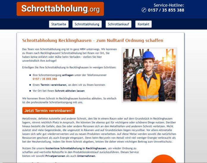 Unkomplizierte Schrottentsorgung durch die Schrottabholung Recklinghausen