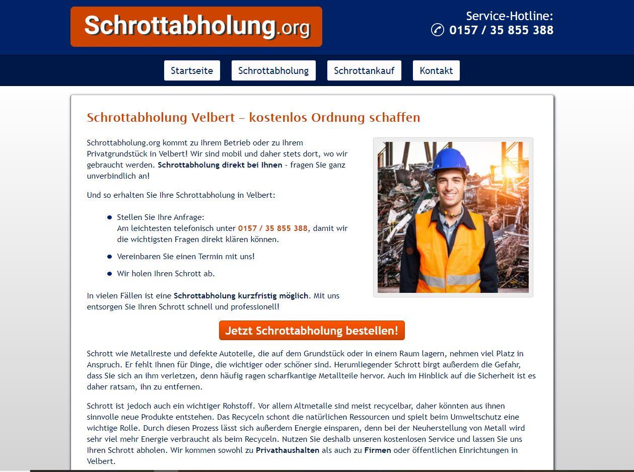 Schrottabholung hat Tradition: In Velbert und ganz NRW