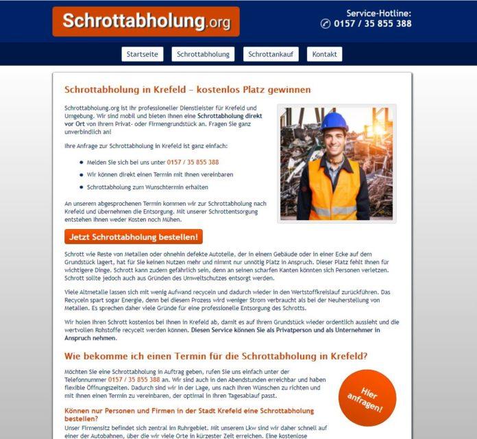 Altmetallabholung Krefeld