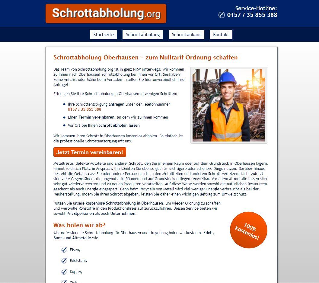 Schrottaankauf Oberhausen