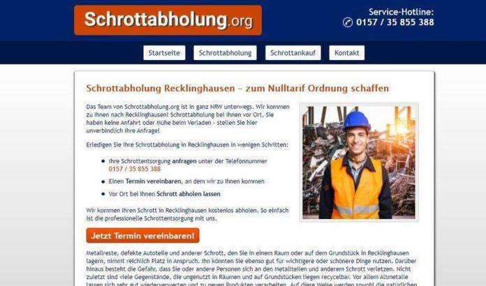 Die Schrottabholung Recklinghausen entsorgt Ihren Metallschrott