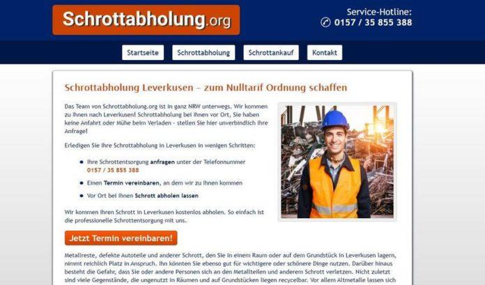 Schrottabholung Leverkusen - fair und transparent