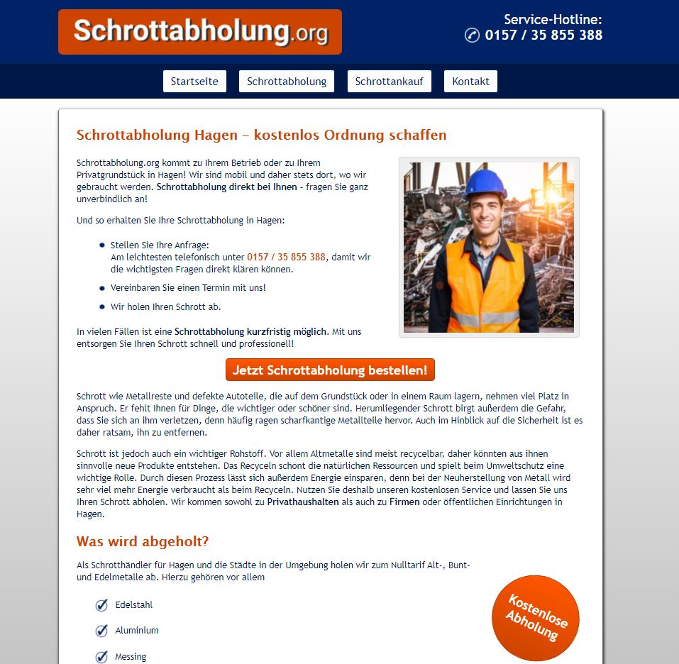 Schrottabholung Hagen