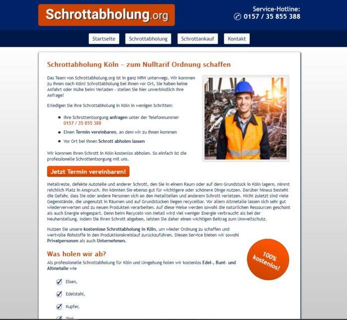 Die Schrottabholung in Köln