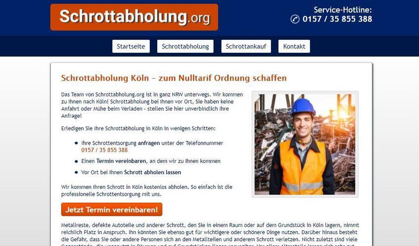 Die Schrottabholung in Köln ist tätig in einem der ältesten Berufe der Menschheit