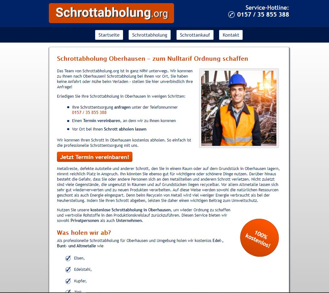 SchrottankaufOberhausen