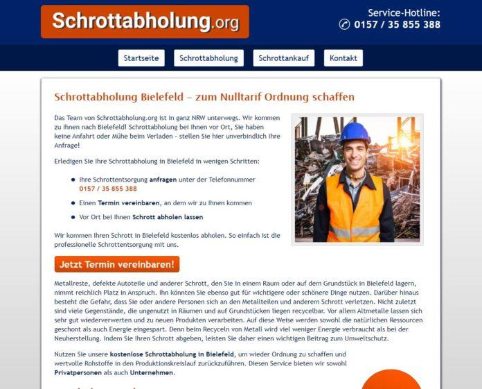 Schrottabholung Bielefeld fair und transparent