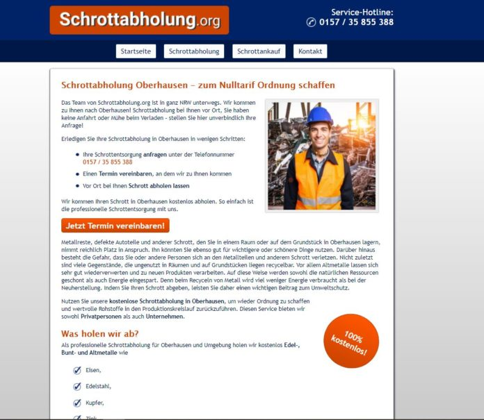 Schrottabholung in Oberhausen