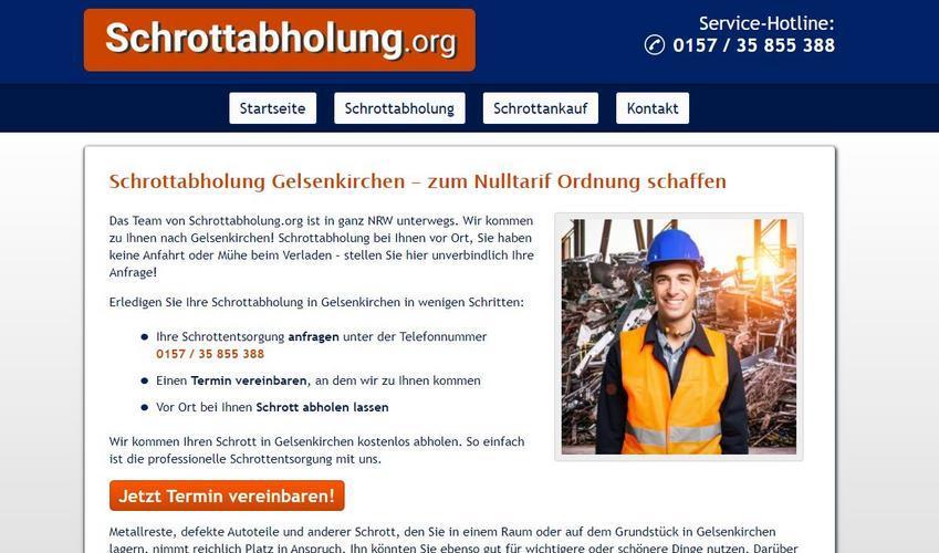 Schrottabholung Gelsenkirchen: Der mobile Schrotthändler holt Altmetallschrott beim Kunden ab
