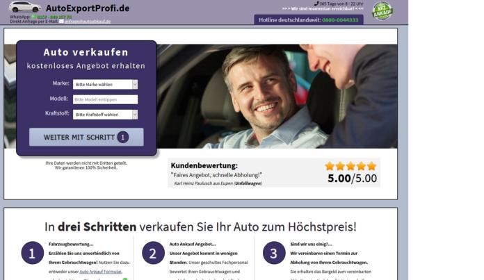 KFZ Ankauf Export - Deutschlandweite Abholung