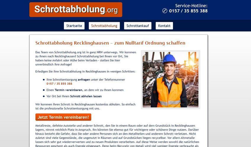Schrottabholung in Recklinghausen