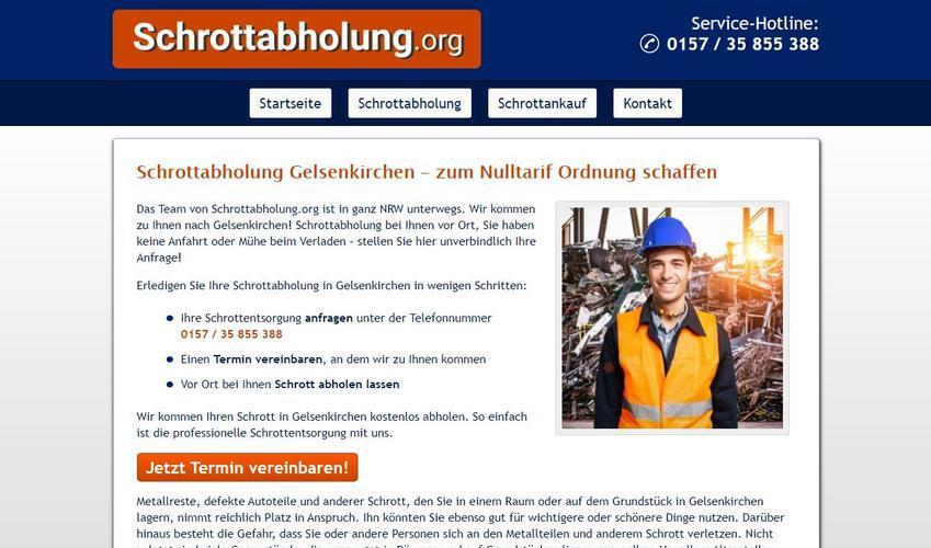 Schrottabholung Gelsenkirchen – rund um die Uhr erreichbar!