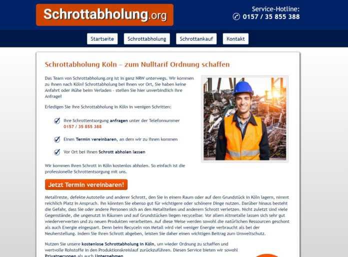 Die Schrottabholung in Köln entsorgt Ihren Metallschrott
