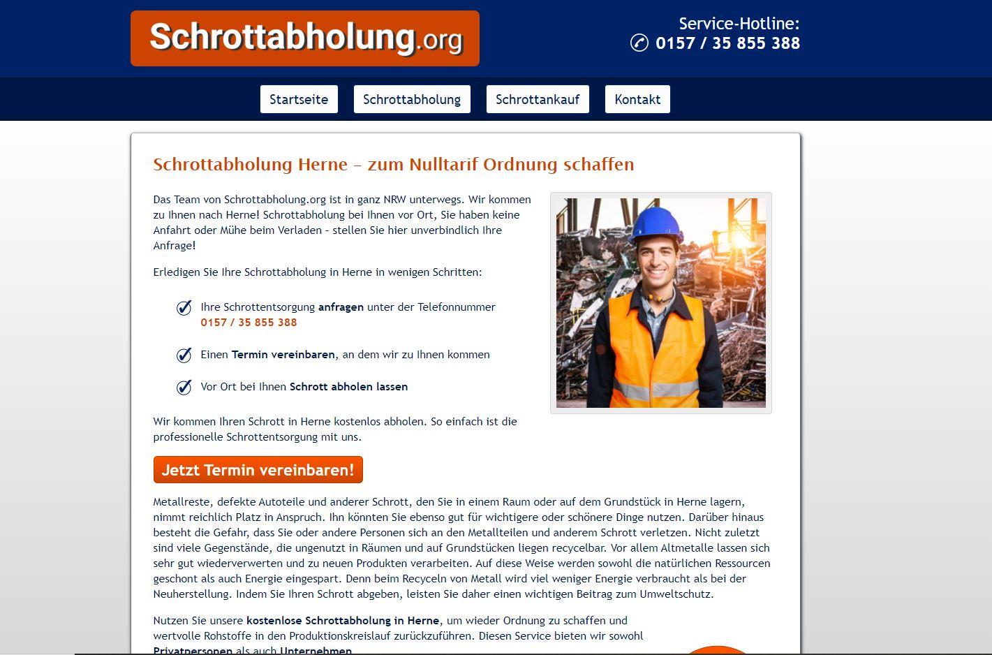 Schrottabholung in Herne