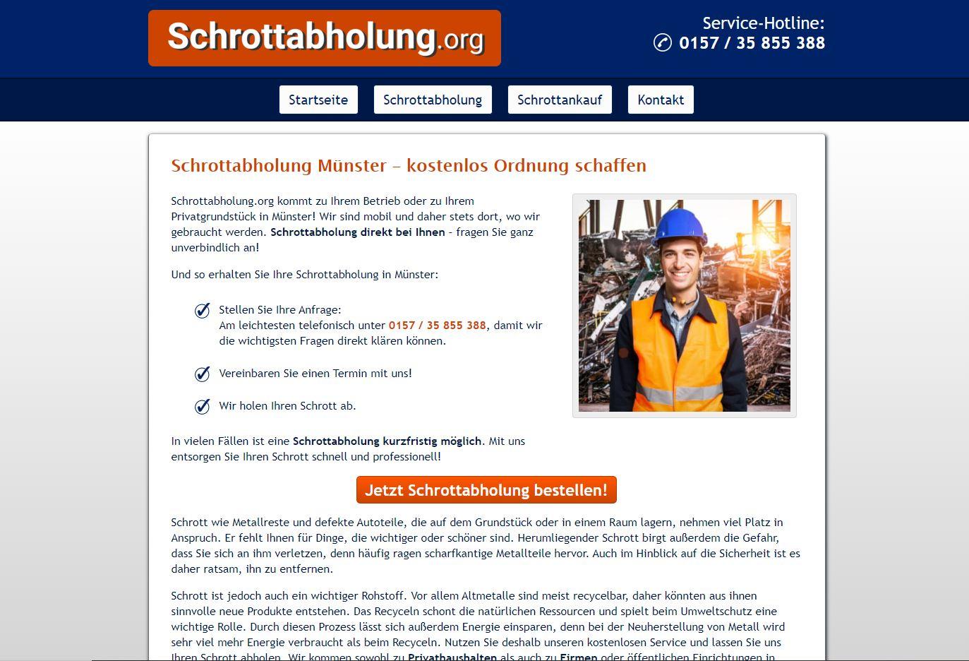 Schrottabholung in Münster