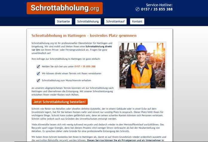 Schrottabholung in Hattingen