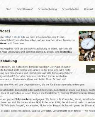 Schrottabholung Wesel