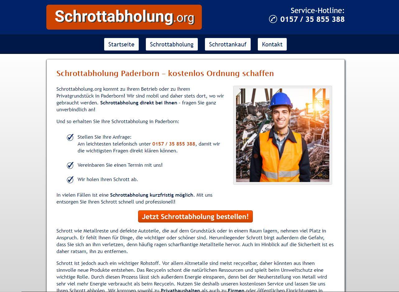 Schnell für den Schrottabholung in Paderborn durch Schrottabhbolung.org