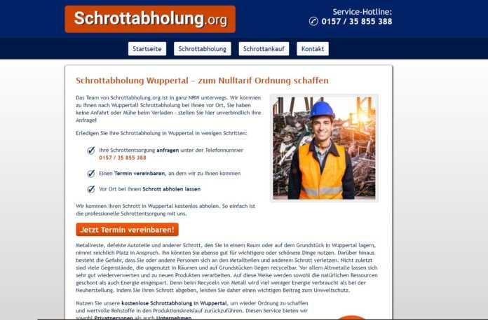 Schrottabholung in Wuppertal: Wir holen Ihren Schrott gerne bei Ihnen kostenlos ab