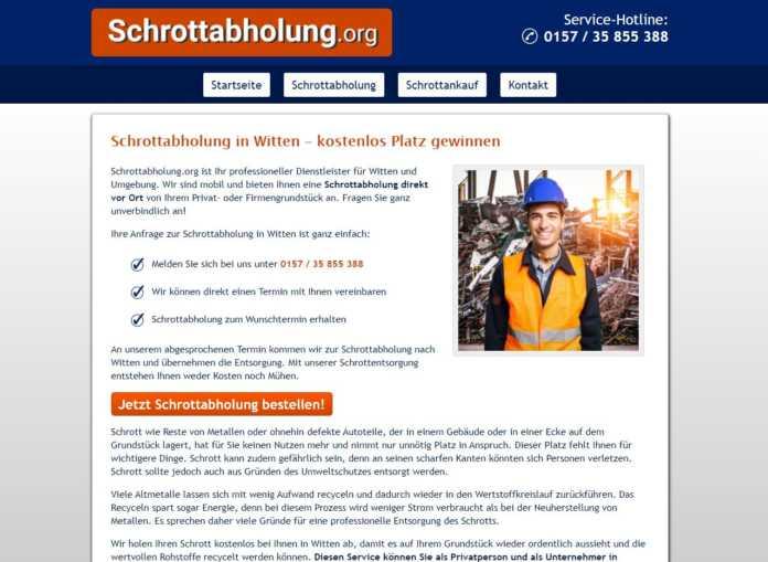 Professioneller Schrottabholung vor Ort in Witten