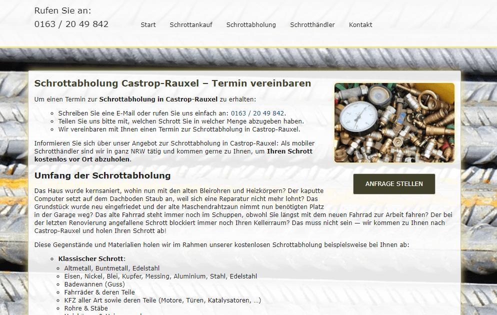 Schrottabholung Castrop-Rauxel