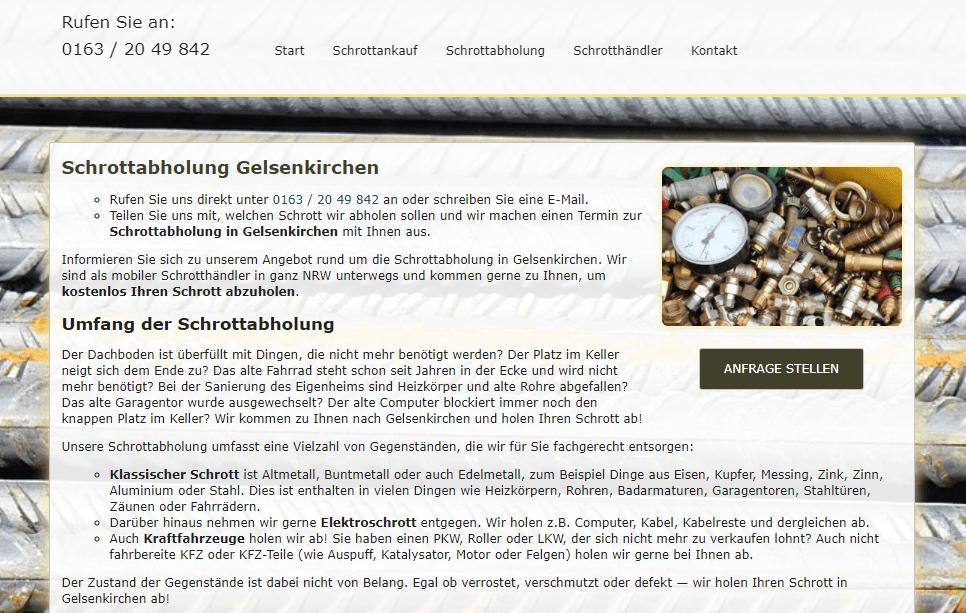 Schrottabholung in Gelsenkirchen