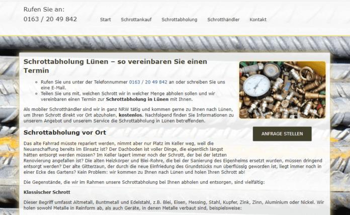 Altmetallentsorgung in Lünen