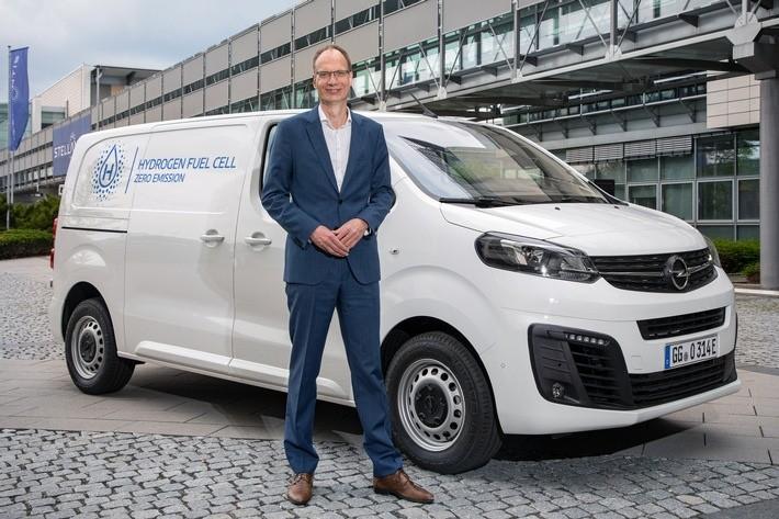 Neuer Opel Vivaro-e HYDROGEN mit Brennstoffzelle für emissionsfreie Transporte
