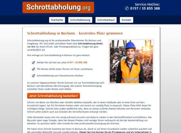 Schrottabholung Bochum