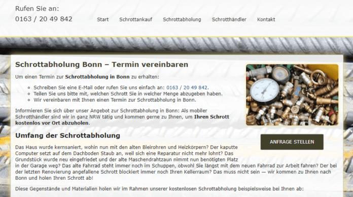 Schrottabholung Bonn