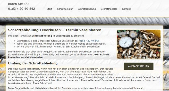 Schrottabholung Krefeld