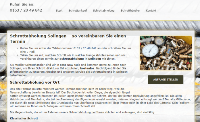 Schrottabholung Solingen-4fb614c7