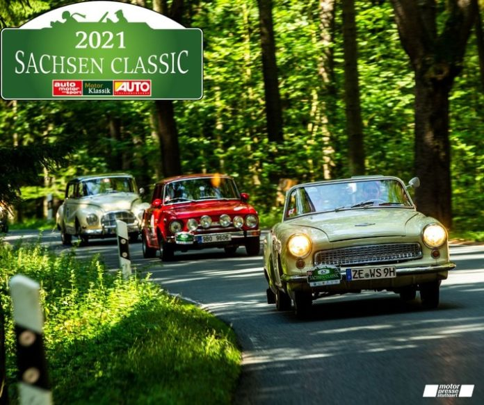 Premiere im Freistaat: 18. Sachsen Classic ist die erste klimaneutrale Classic-Rallye der Motor Presse Stuttgart