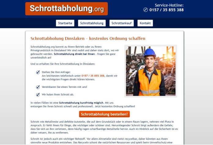 Schrottabholung.org Schottankauf in Dinslaken
