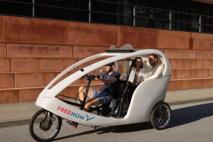 Fahrrad-Taxis in vier deutschen Städten FREE NOW bietet jetzt Rikschas in Hamburg, Berlin, München und Köln an